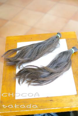 バッサリ カット 卑弥呼さま 名残惜しい 髪の毛