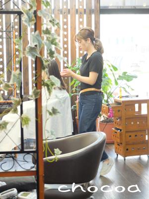ハマちゃんのカットモデル練習とセヌゥ先生