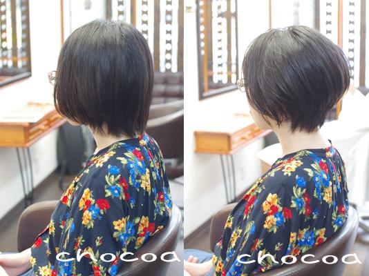 絶壁に見える髪型をカットで補正してみました(^^)/