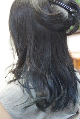 インナーカラー ブルー系